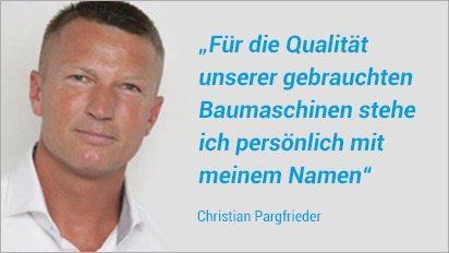 Gebrauchte Baumaschinen vom Profi - Christian Pargfrieder - Jetzt informieren